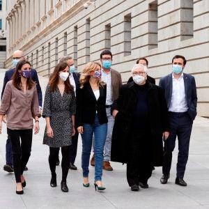 Reunión de los dirigentes de Unidas Podemos en el Gobierno y en el grupo parlamentario
