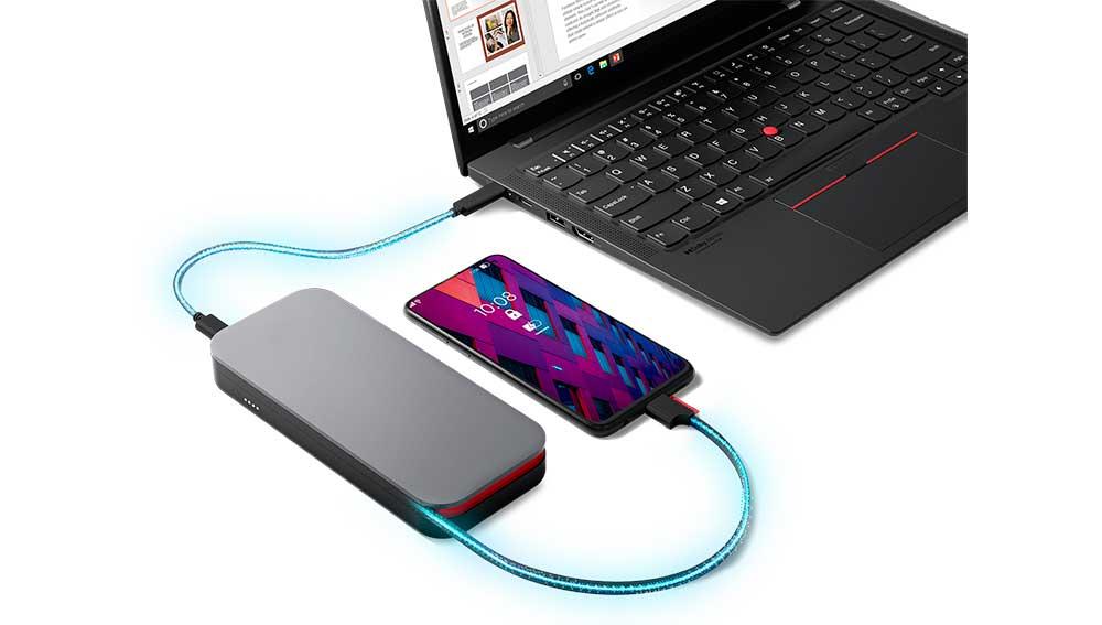 Lenovo Go USB-C Laptop Power Bank de 20.000 mAh
