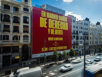 Lona promocional de la Copa Davis en Madrid