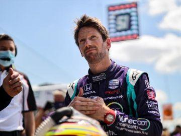 Grosjean logra la pole en Indianápolis