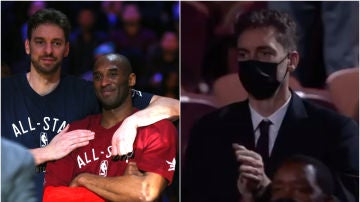 Pau Gasol, presente con la familia de Kobe Bryant en su introducción al Hall of Fame