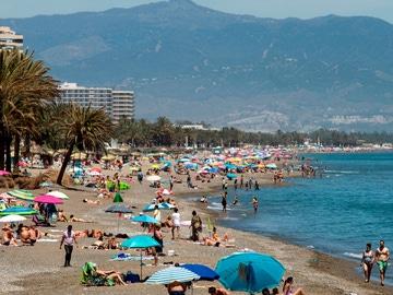 Imagen de la playa de La Carihuela, en Torremolinos, Málaga