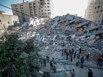 Domicilios derribados por las bombas de esta madrugada en Israel
