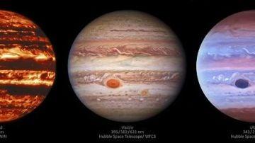 Sorprendentes imágenes de la NASA: así se ve Júpiter con luz ultravioleta e infrarroja