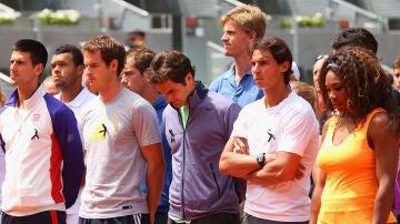 Novak Djokovic, Andy Murray, Roger Federer, Rafa Nadal y Serena Williams