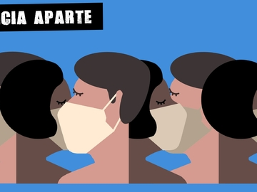 Ilustración de personas con mascarilla