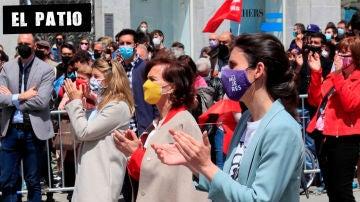 Carmen Calvo e Irene Montero en la manifestación del Primero de Mayo (Archivo)
