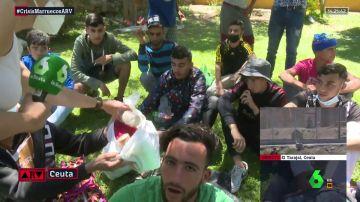 Menores migrantes en Ceuta