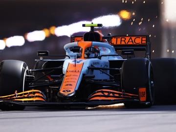 El McLaren de Lando Norris
