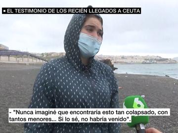 Joven migrante en Ceuta