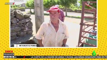 """El enfado de un vecino de Zamora con la televisión: """"Que a mí no me pagáis por estar aquí"""""""
