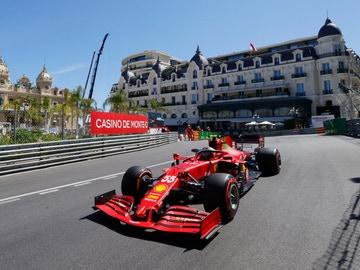 Carlos Sainz en los Libres 2 del GP de Mónaco