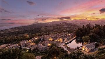 Santa Fiora, en la Toscana (Italia).