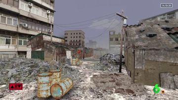 La impresionante recreación en 3D de la destrucción en Gaza: así están sus calles tras los bombardeos