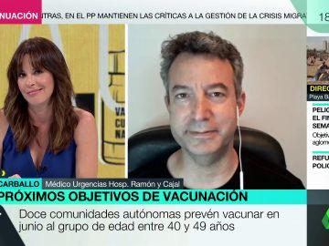 El consejo del doctor César Carballo a los vacunados con una dosis de AstraZeneca: