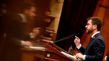 Pere Aragonès, investido presidente de la Generalitat con los votos de Junts y la CUP