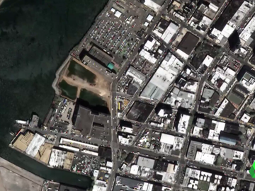 Vista aérea de tejados blancos