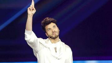 Blas Cantó durante la segunda semifinal de Eurovisión