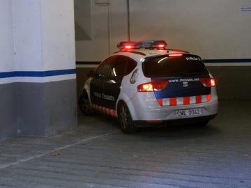Un vehiculo de los Mossos d'Esquadra