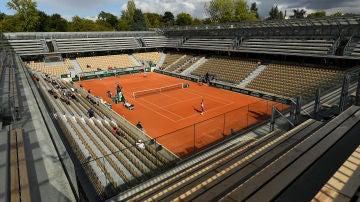 La pista Simonne-Mathieu de Roland Garros