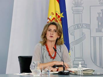 Teresa Ribera en la rueda de prensa posterior al Consejo de Ministros