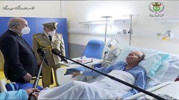 El presidente de Argelia visita a Brahim Ghali