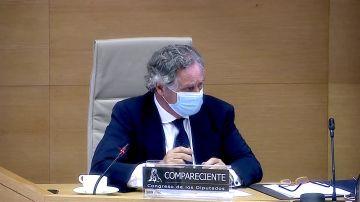 El empresario Ignacio López del Hierro, durante su comparecencia en el Congreso.