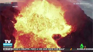 Esto es lo que se ve en el interior de un volcán según las imágenes grabadas por un dron
