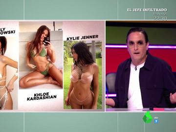 "Josie analiza las colecciones de bikinis de Pilar Rubio, Khloé Kardashian o Emily Ratajkowski: ""Parece que se ha liado con un teléfono fijo"""