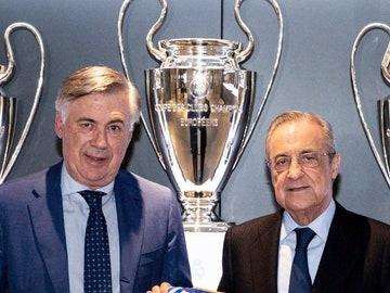 Ancelotti y Florentino Pérez