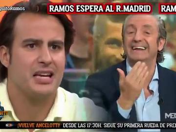 Brutal cara a cara entre Josep Pedrerol y Juanfe Sanz por la renovación de Sergio Ramos