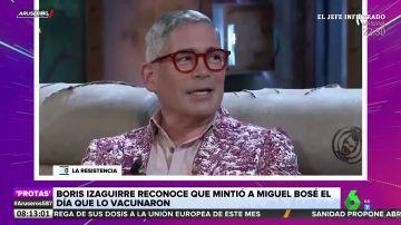 La mentira de Boris Izaguirre a Miguel Bosé tras ser vacunado contra el coronavirus
