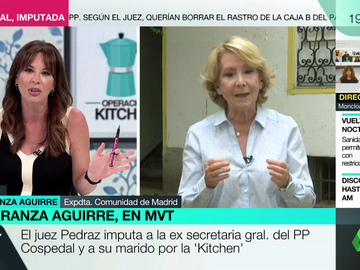 Mamen Mendizábal y Esperanza Aguirre