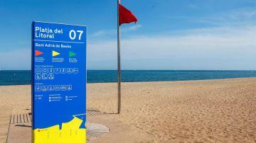 Cierran la playa de Sant Adrià de Besòs por presencia de elementos cancerígenos