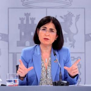 La ministra de Sanidad, Carolina Darias