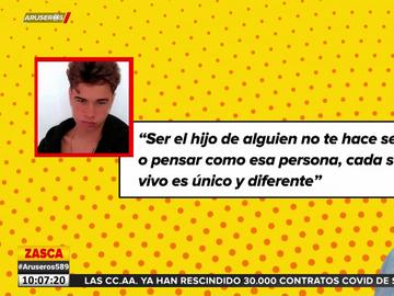 """Así es Lucas, el hijo de Toni Cantó y Carla Hidalgo: """"Ser hijo de alguien no te hace pensar como esa persona"""""""