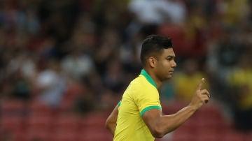 Casemiro con la selección brasileña ante Nigeria