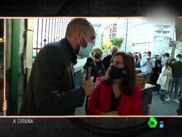 Jorge Ponce con la alcaldesa de Vigo
