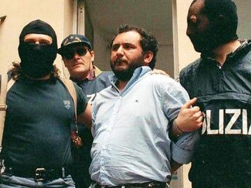 Giovanni Brusca, en el momento de su detención