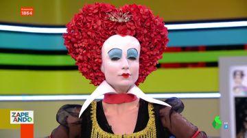 Nuria Adraos convertida en la Reina Roja
