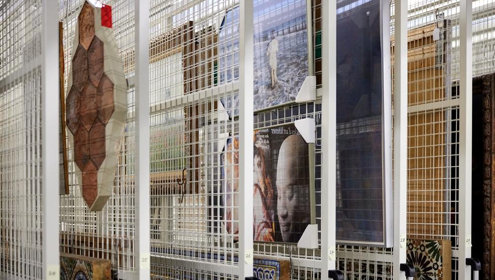 Detalle del interior del almacén del museo Boijmans Van Beuningen