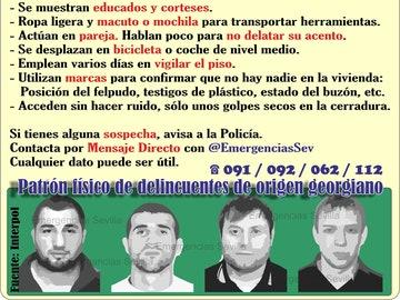 El patrón físico de los ladrones de viviendas de Sevilla