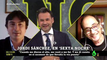 """El especial encuentro de Jordi Sánchez con el médico que le cuidó en la UCI: """"Es la primera vez que te veo sin mascarilla"""""""