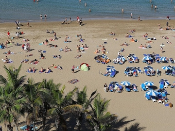 Imagen de la playa de Las Canteras, en Las Palmas de Gran Canaria