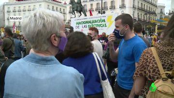 Protesta en Madrid contra la nueva tarifa eléctrica