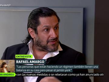 """El motivo por el que Rafael Amargo llevaba una balanza cuando le detuvieron: """"Fui a por algo y como soy consumidor iba a pesarlo"""""""