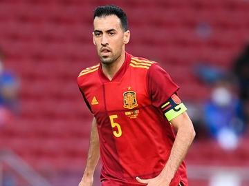 Sergio Busquets, con España