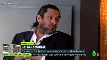 Rafael Amargo deja entrever que hay exministros que acuden a su casa