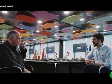 """Javier Tebas responde en Salvados: ¿por qué se suspende un partido cuando se llama a Zozulia """"puto nazi"""" pero no con insultos racistas?"""
