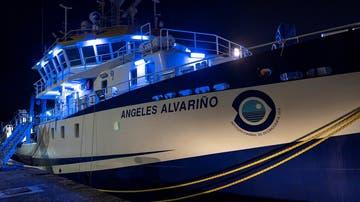 El buque oceanográfico 'Ángeles Alvariño', que busca a Anna y Olivia